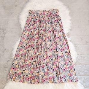 Vintage Floral Long Skirt